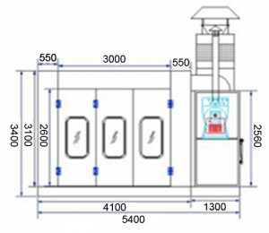AMT 6002 Spray Paint Booth 3