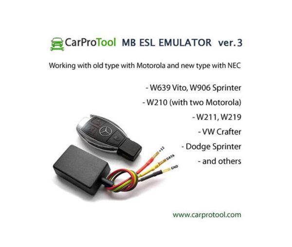 Mercedes-Benz + VW + Dodgle steering lock ESL Emulator - Ver.3 (NEC / Motorola) 2