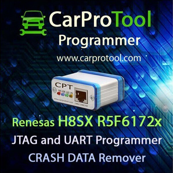 Renesas H8SX R5F6172x JTAG UART CAN Programmer CRASH DATA Remover 2