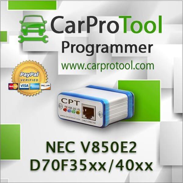 Renesas NEC V850E2 D70F35xx D70F40xx. FLUR0RTX Connection Type 2