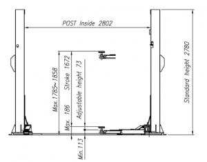 Heshbon HL-25H - 2 Post Lift 2