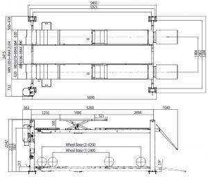 Heshbon HL-42N - 4 Post Wheel Alignment Lift 3
