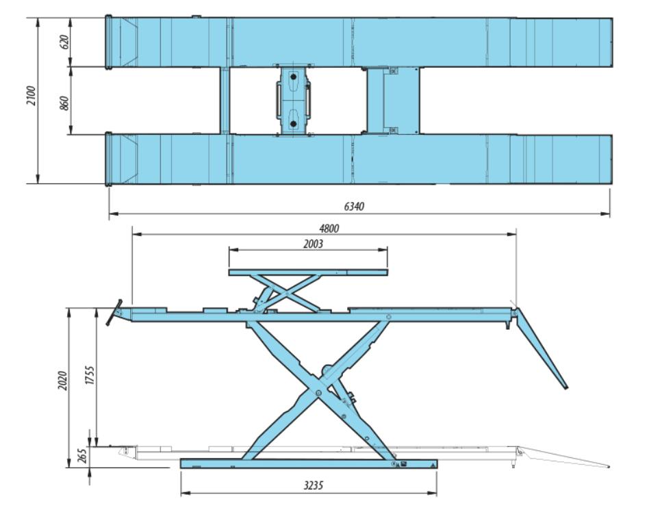 Heshbon HL-52F - Wheel Alignment Scissor Lift 3