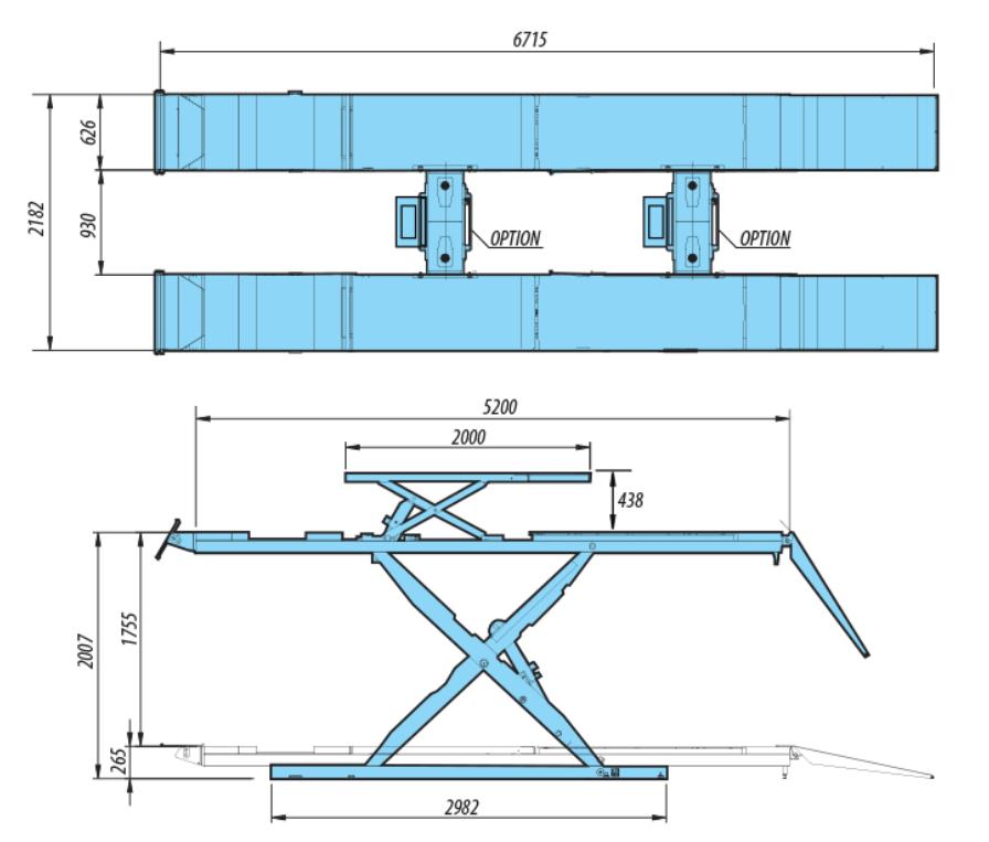 Heshbon HL-52N - Wheel Alignment Scissor Lift 3