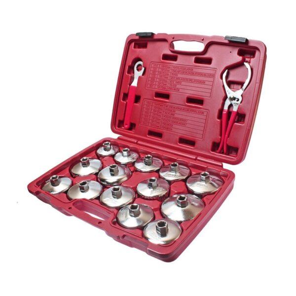 16 Pcs Steel Oil Filter Socket Set JTC-4666 1