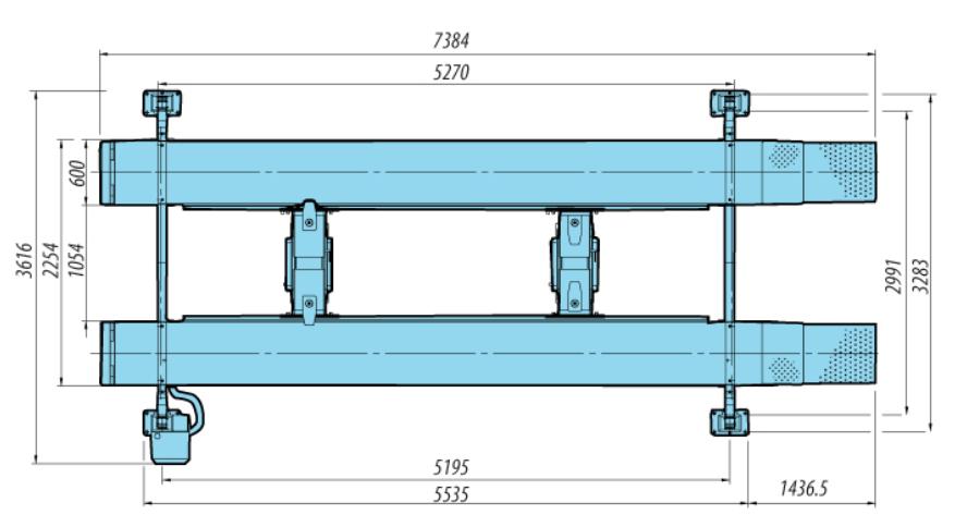 Heshbon HL-46H - 4 Post Wheel Alignment Lift 3