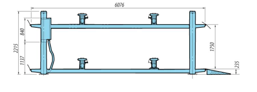 Heshbon HL-46H - 4 Post Wheel Alignment Lift 4
