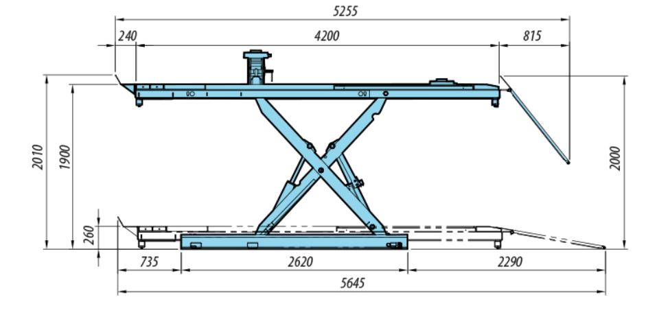Heshbon HL-52X - Scissor Lift with Alignment 4
