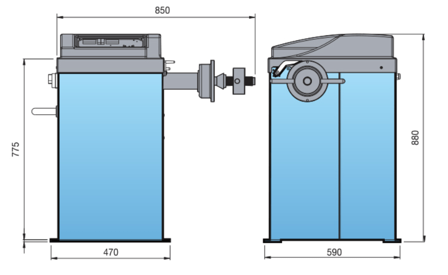 Heshbon HW-103 - Wheel Balancer 3