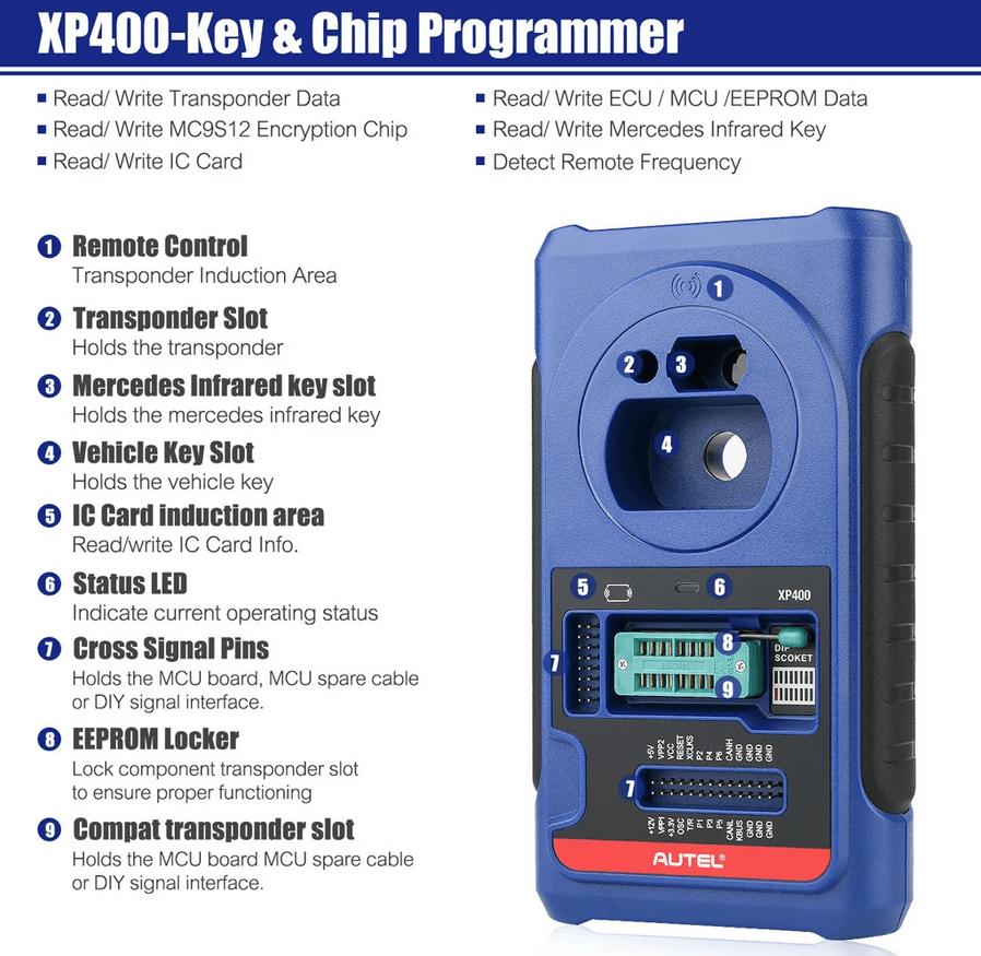 Autel XP400 VCI Dongle IMMO Key Reprogramming Tool 4
