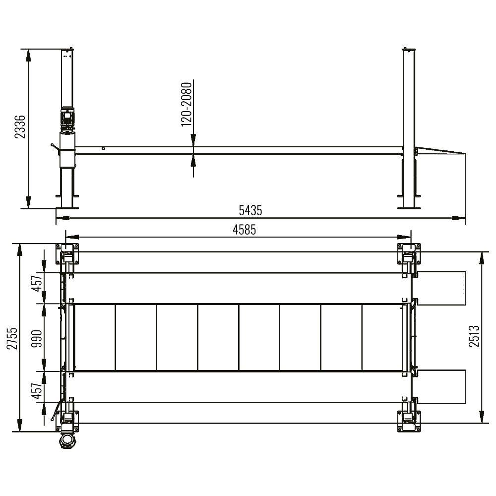 AMT 440P - Four Post Parking Lift 2