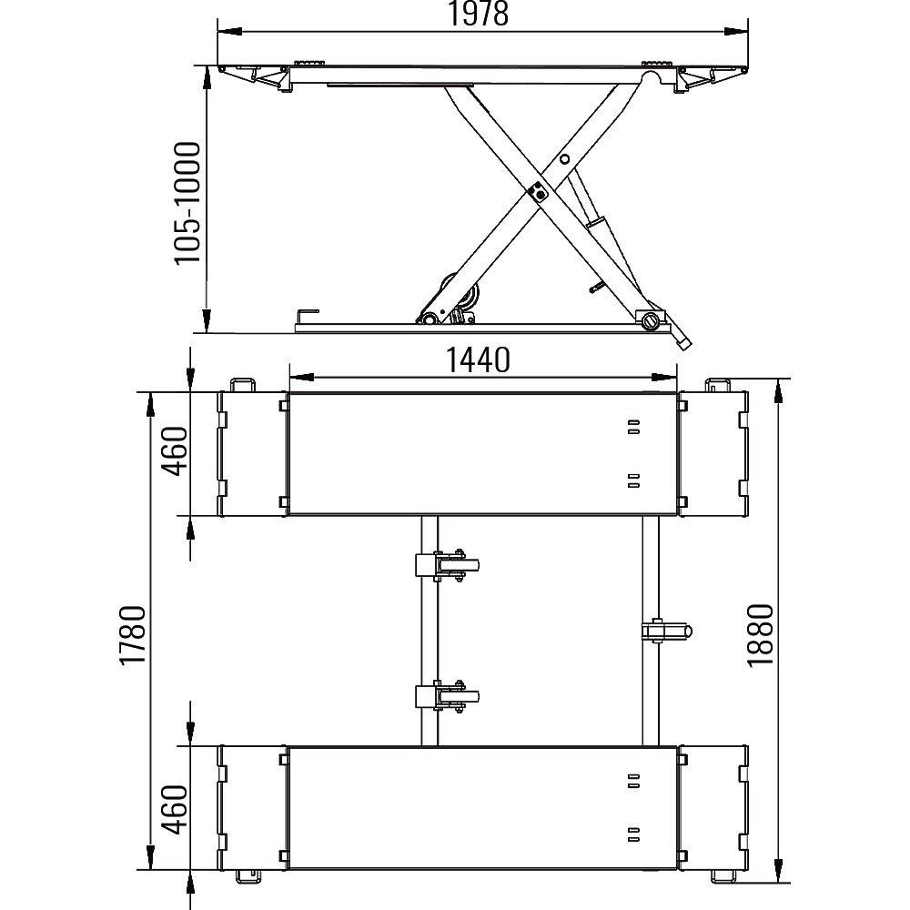 AMT 65A Mid-Rise Scissor Lift 1