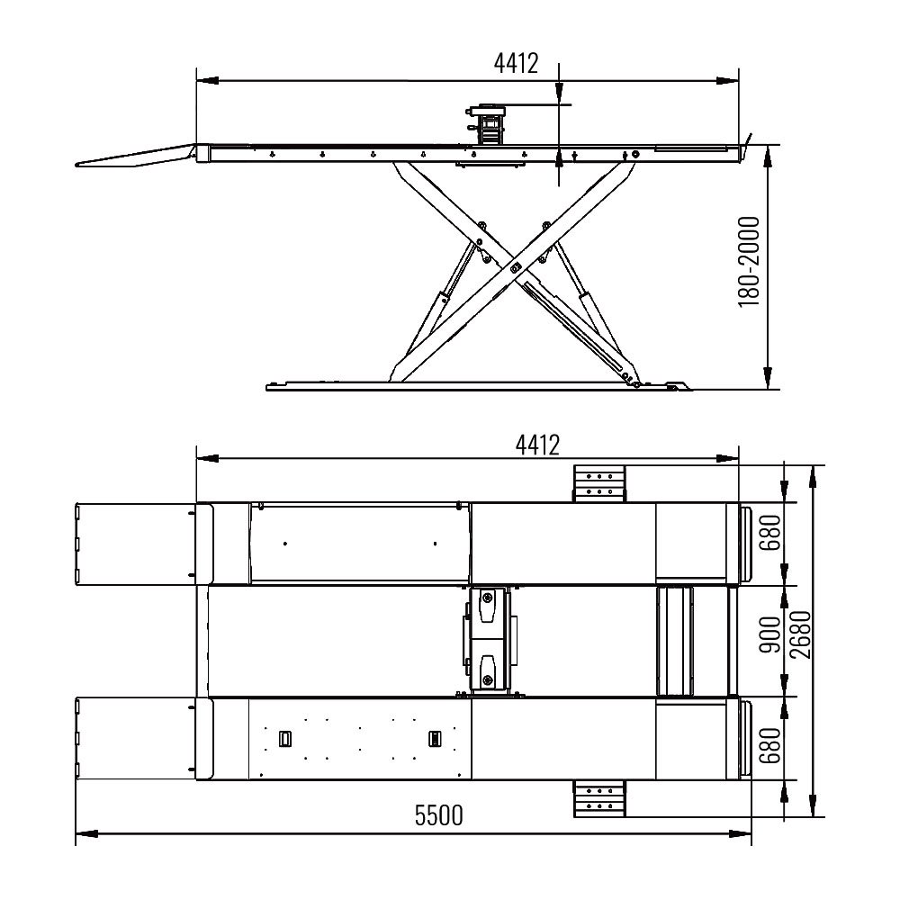 AMT 67S - Alignment Scissor Lift 2