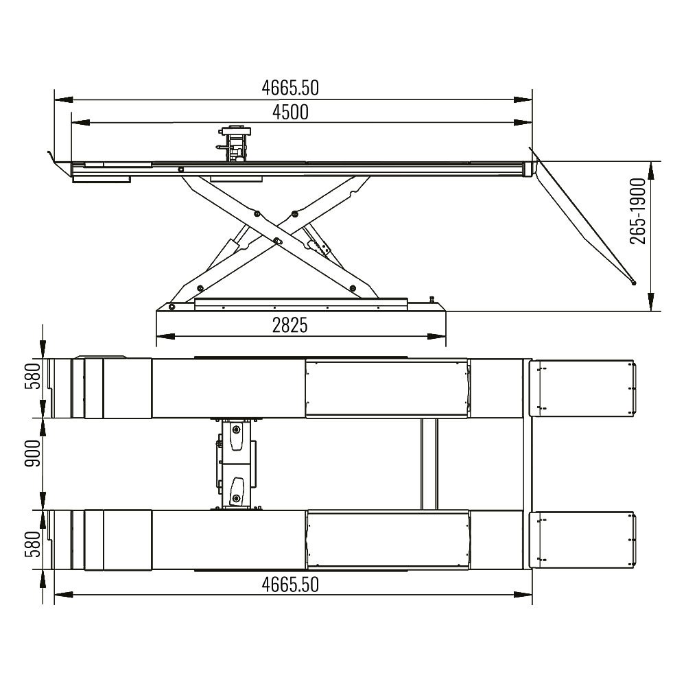 AMT 68S - Alignment Scissor Lift 1