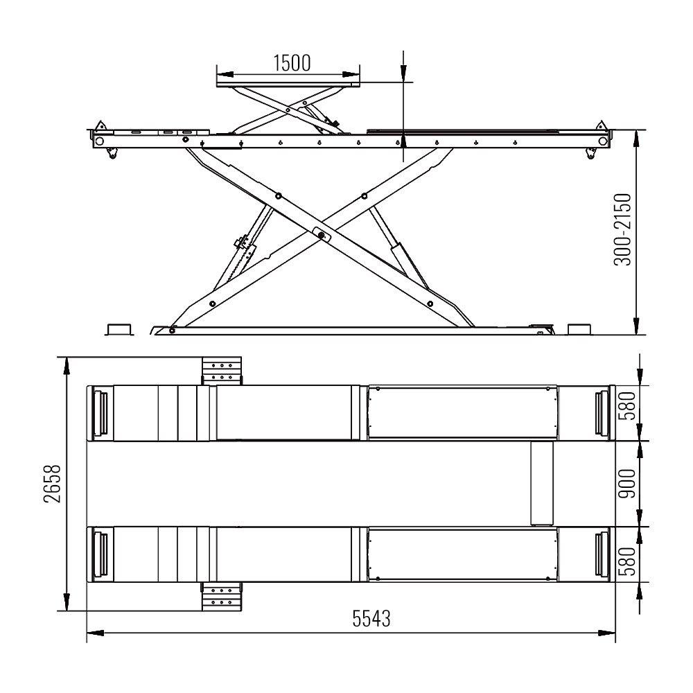 AMT 69S - Alignment Scissor Lift 2